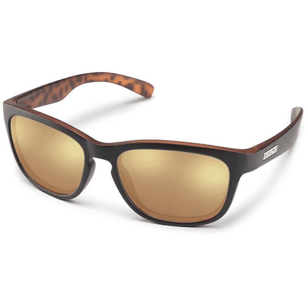 SUNCLOUD Cinco Polarized Sunglasses - BLACK HAVANA/SIENNA