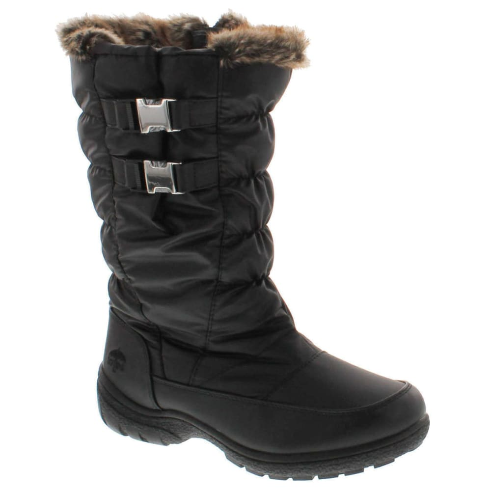 TOTES Women's Bunny Waterproof Quilted Winter Snow Boots - BLACK