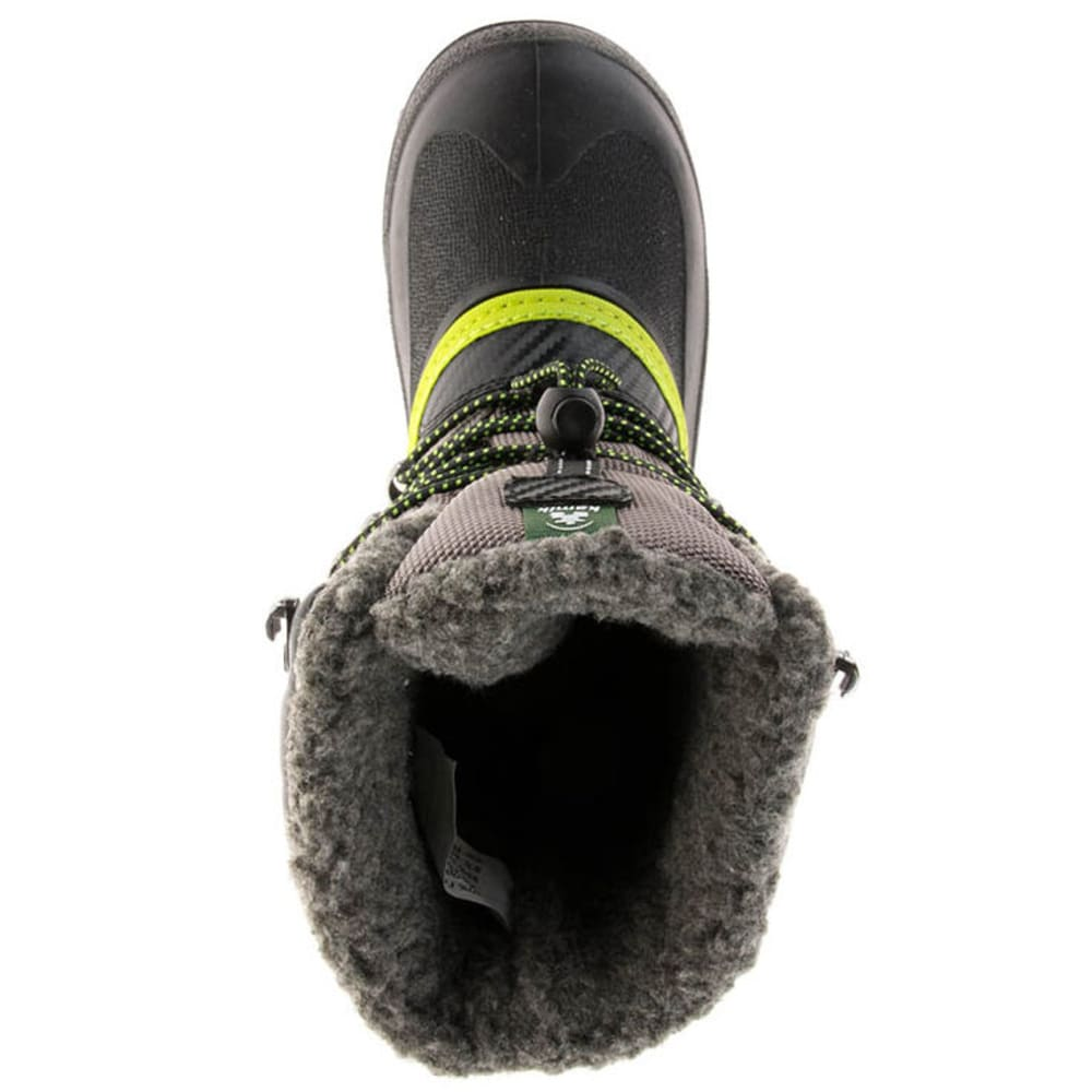 KAMIK Toddler/Kids' Luke Storm Boot - CHARCOAL/LIME-CHA