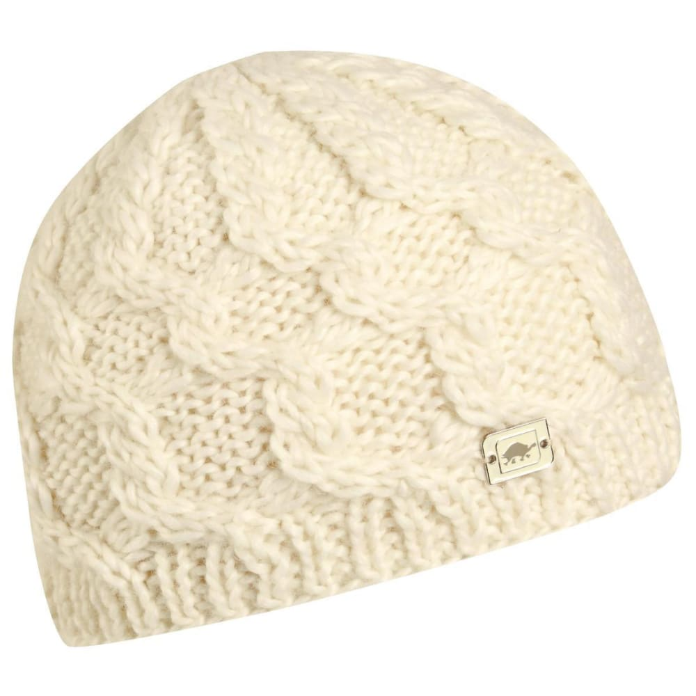 TURTLE FUR Women's Entwined Hand Knit Beanie - 102 WHITE