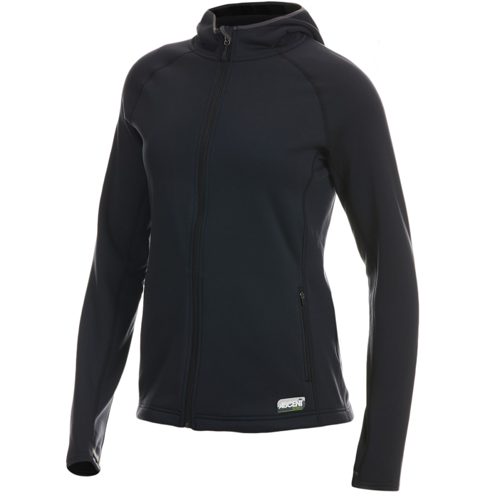 EMS Women's Equinox Ascent Stretch Full-Zip Hoodie - ANTHRACITE