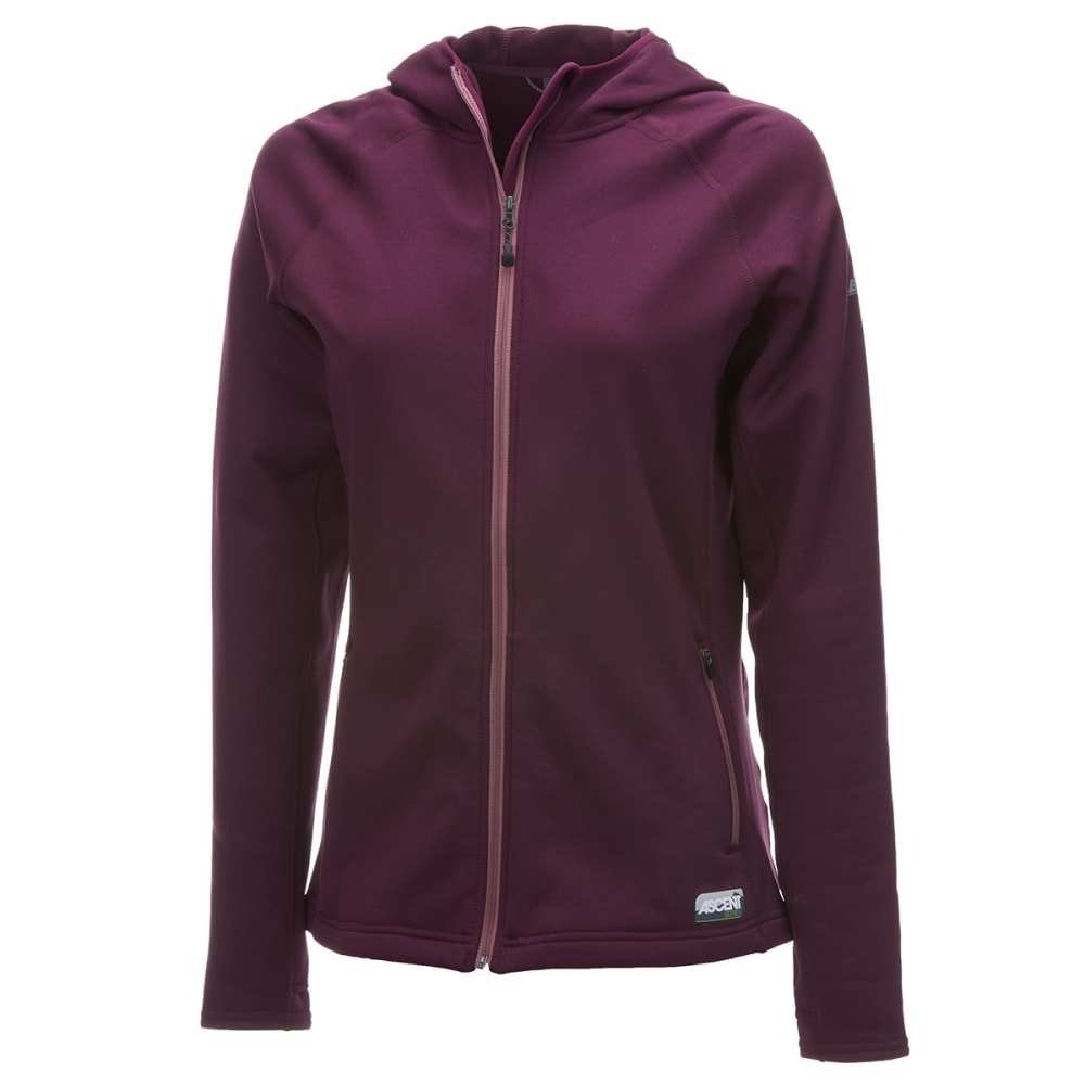EMS Women's Equinox Ascent Stretch Full-Zip Hooded Jacket - POTENT PURPLE