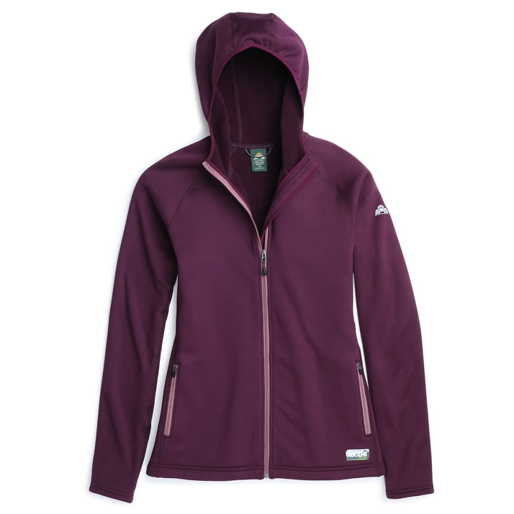 EMS Women's Equinox Ascent Stretch Full-Zip Hoodie - POTENT PURPLE