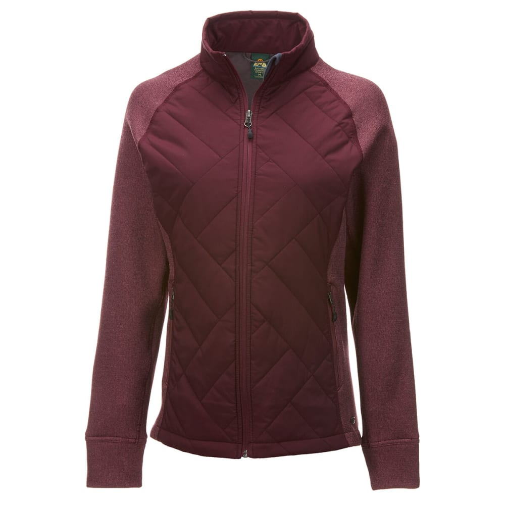 EMS Women's Full-Zip Destination Hybrid Sweater Jacket - NOCTURNE