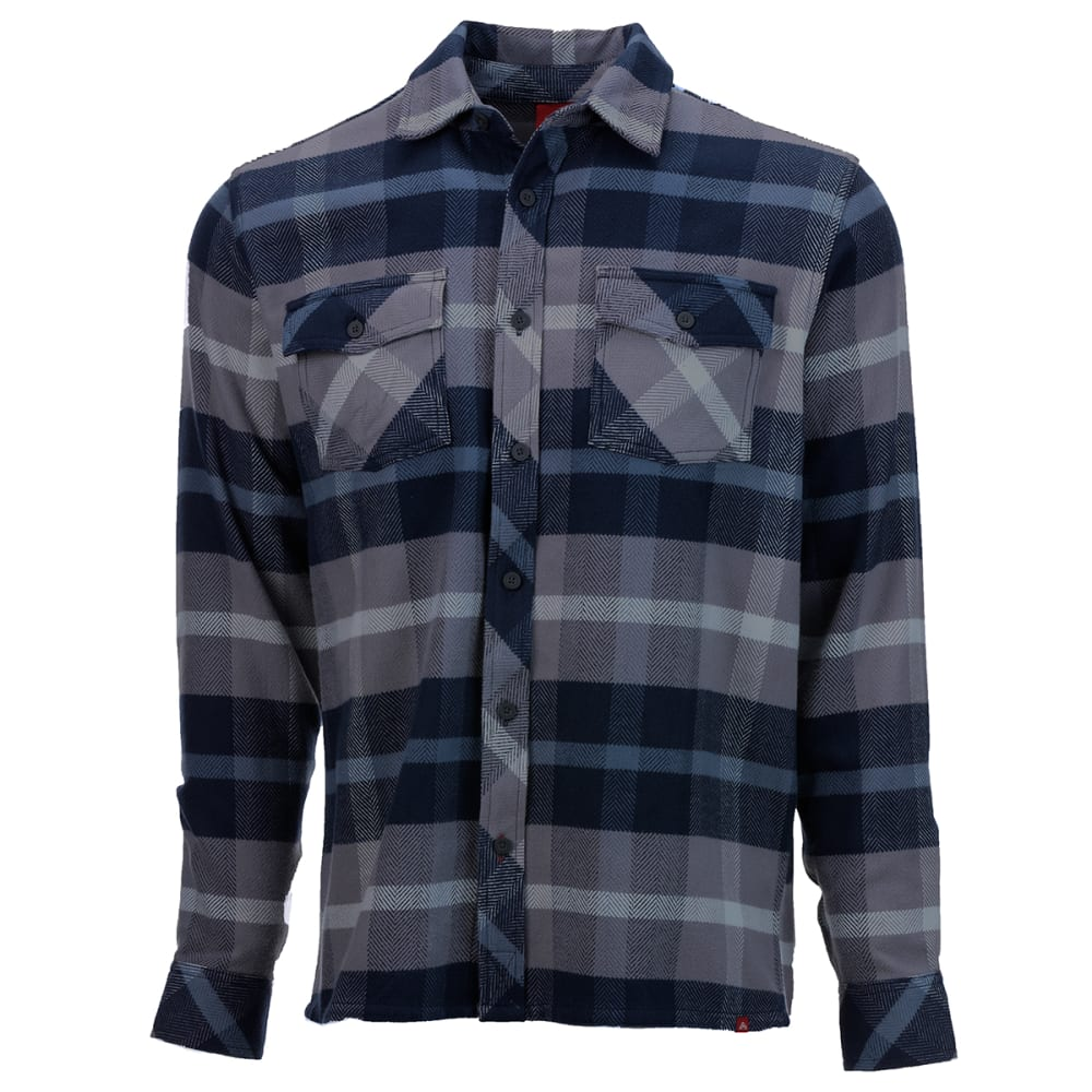 EMS Men's Cabin Flannel Long-Sleeve Shirt - MOOD INDIGO
