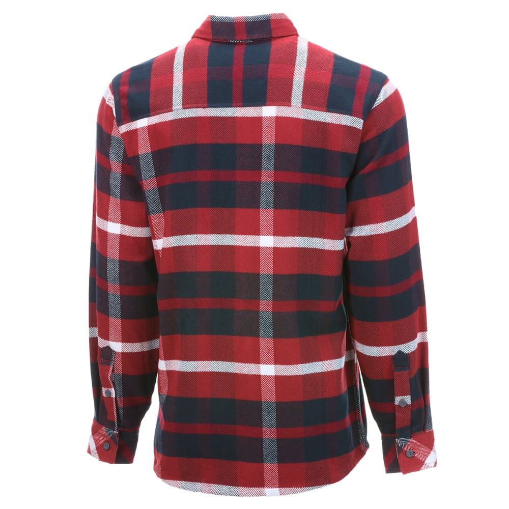 EMS Men's Cabin Flannel Long-Sleeve Shirt - OXBLOOD RED