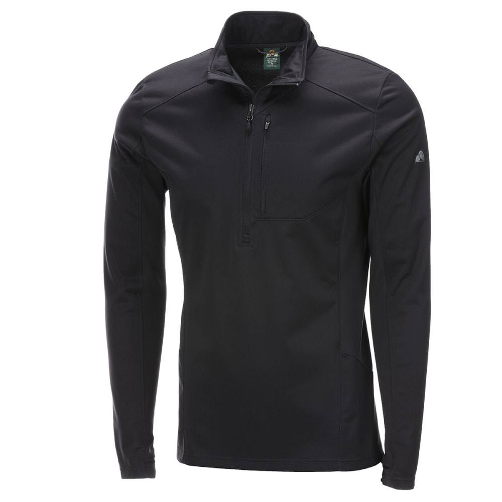 EMS Men's Northshield 1/2-Zip Wind Jacket - OBSIDIAN