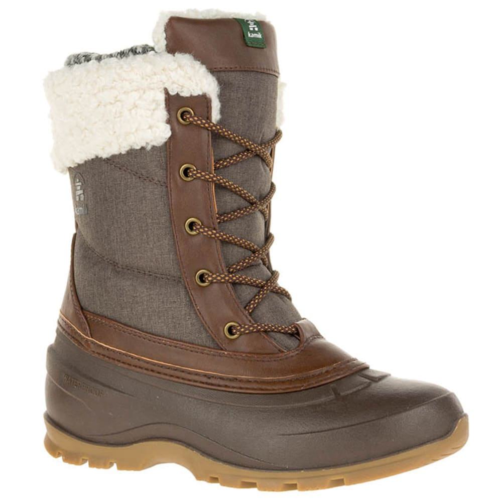 KAMIK Women's Snowpearl Boots - DARK BROWN-DBR