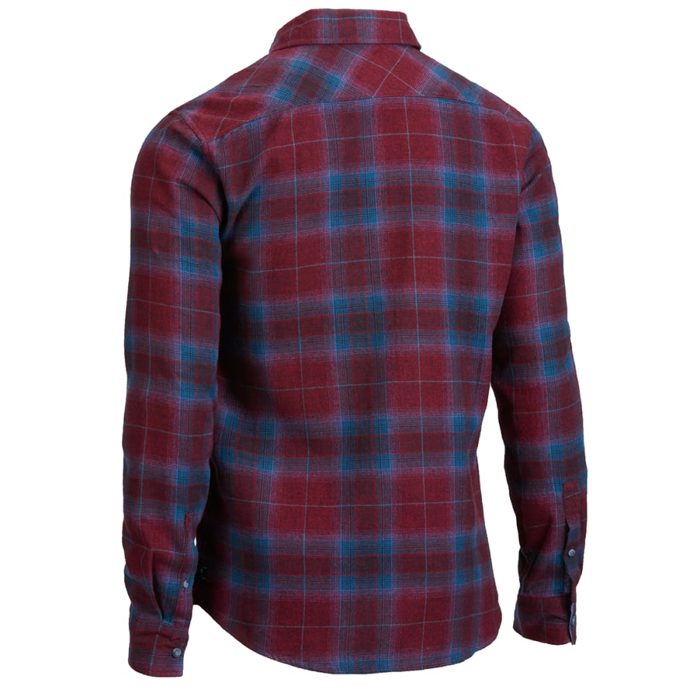 OCEAN CURRENT Young Men's Lavall Flannel Shirt - RIO RED