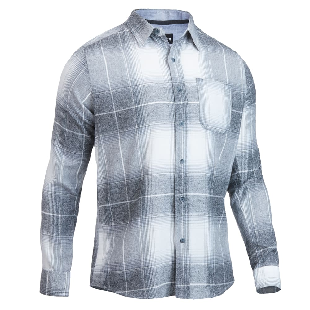 OCEAN CURRENT Young Men's Sonora Flannel Shirt - SMOKE