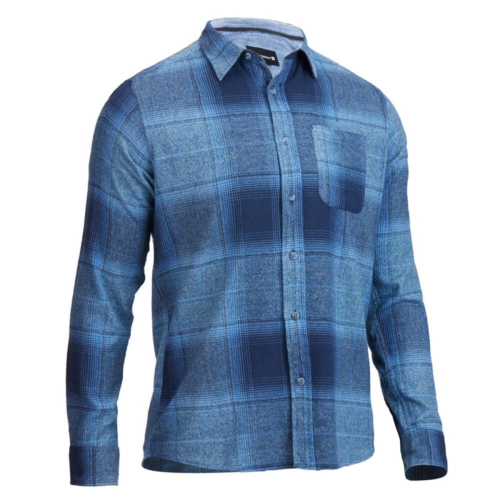 OCEAN CURRENT Young Men's Sonora Flannel Shirt - INDIGO