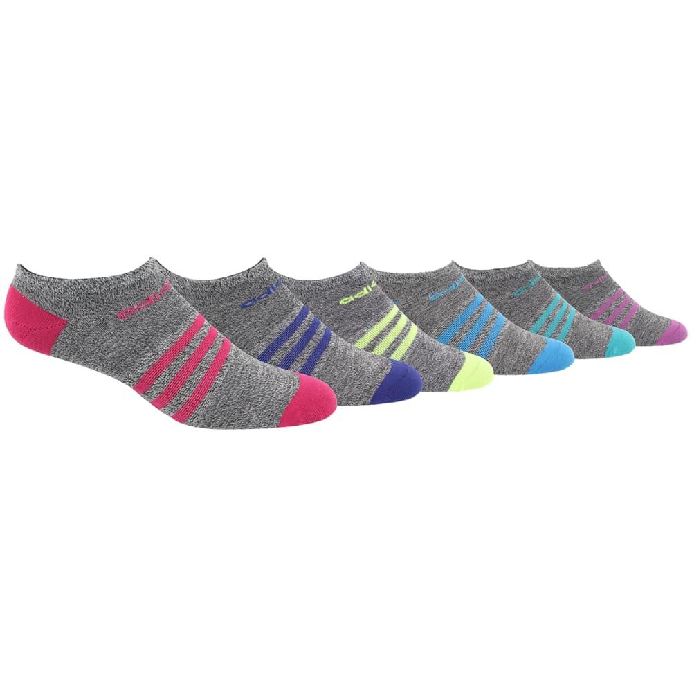 ADIDAS Girls' Superlite No-Show Socks, 6-Pack L