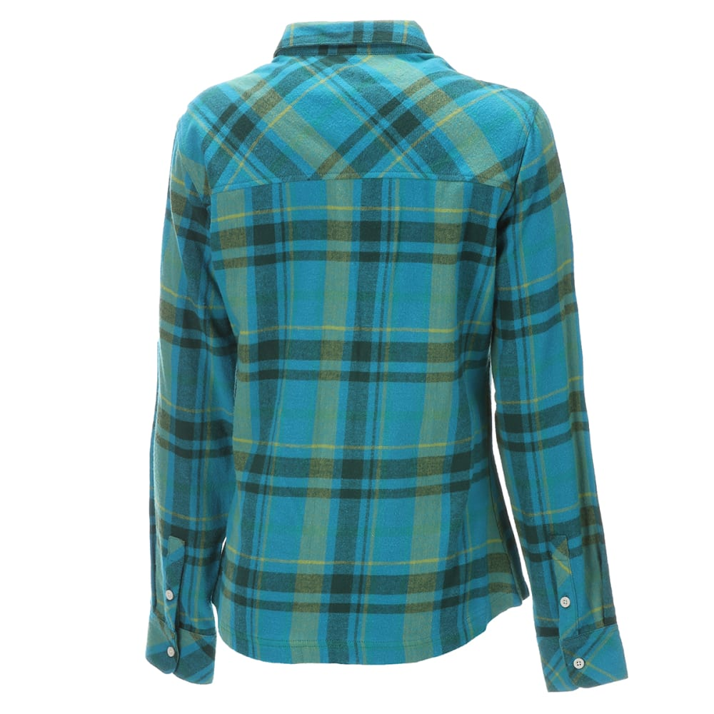 EMS Women's Timber Flannel Long-Sleeve Shirt - OCEANS DEPTH PLAID