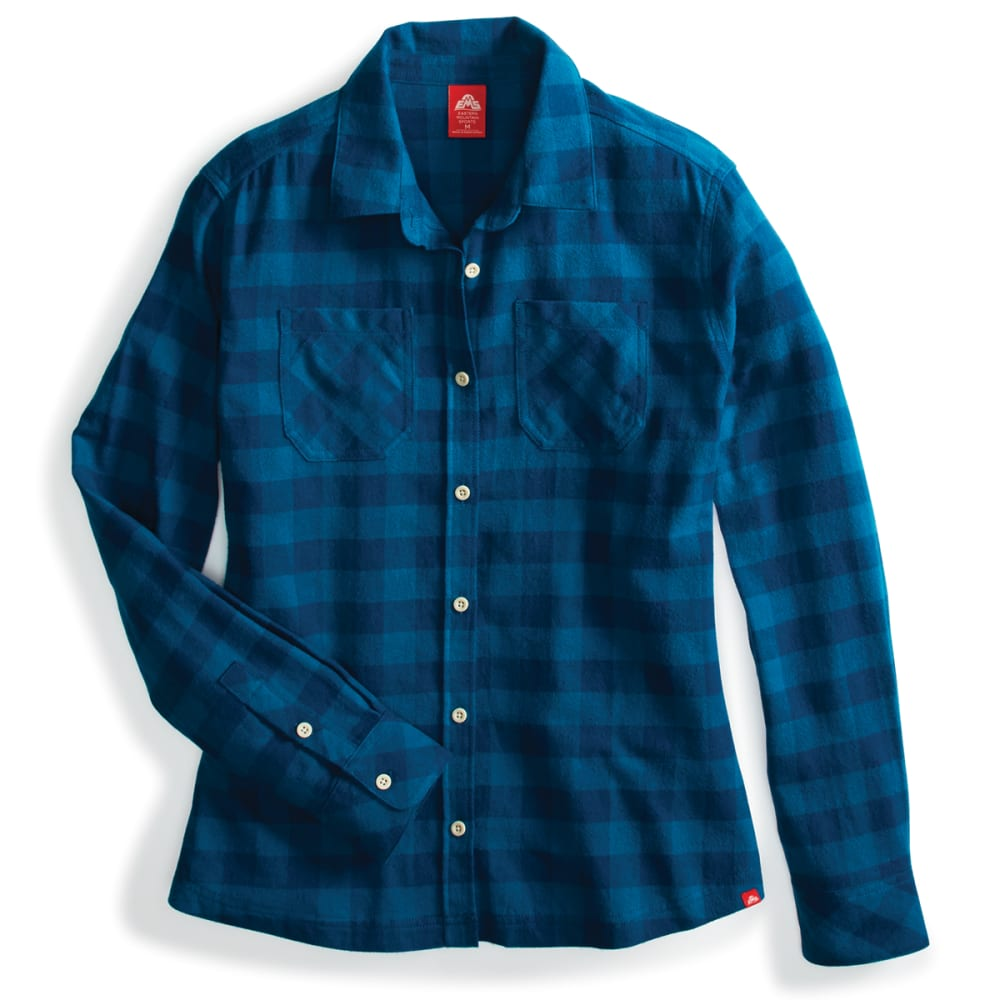 EMS Women's Timber Flannel Long-Sleeve Shirt - MOROCCAN BLUE PLAID