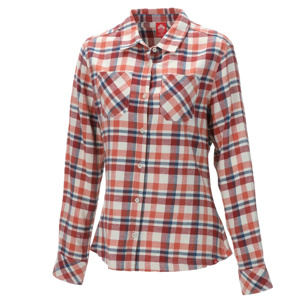 EMS Women's Timber Flannel Long-Sleeve Shirt - APRICOT BRANDY PLAID