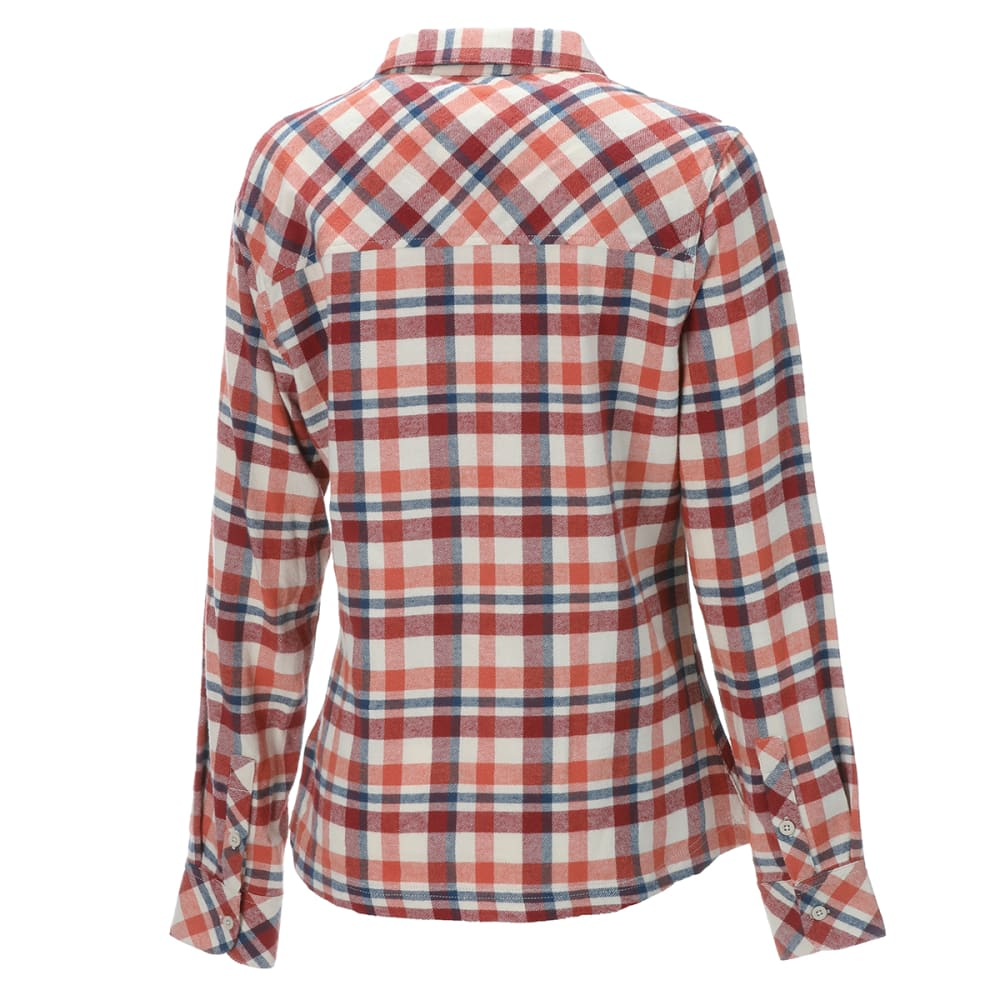 EMS Women's Timber Flannel Long-Sleeve Shirt - APRICOT BRANDY PLAID