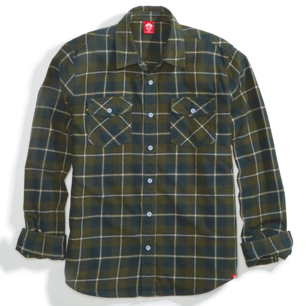 EMS Men's Timber Flannel Long-Sleeve Shirt - RIFLE GREEN PLAID