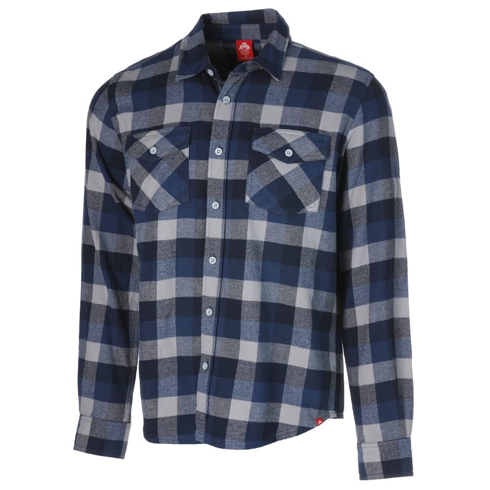 EMS Men's Timber Flannel Long-Sleeve Shirt - SARGASSO SEA PLAID
