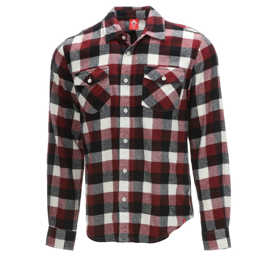 EMS Men's Timber Flannel Long-Sleeve Shirt - POMEGRANATE PLAID