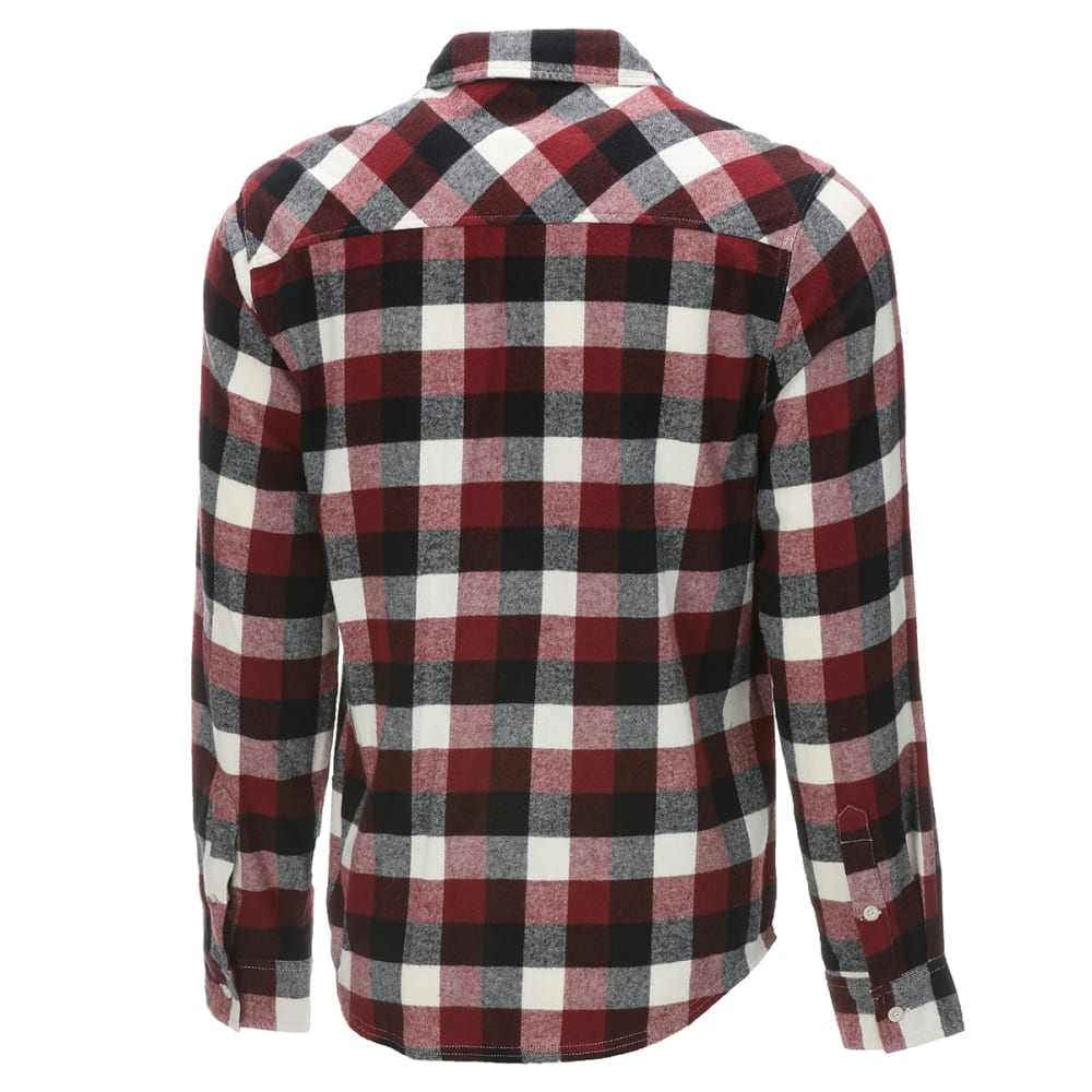 EMS Men's Timber Flannel Long-Sleeve Shirt - POMEGRANATE PLAID