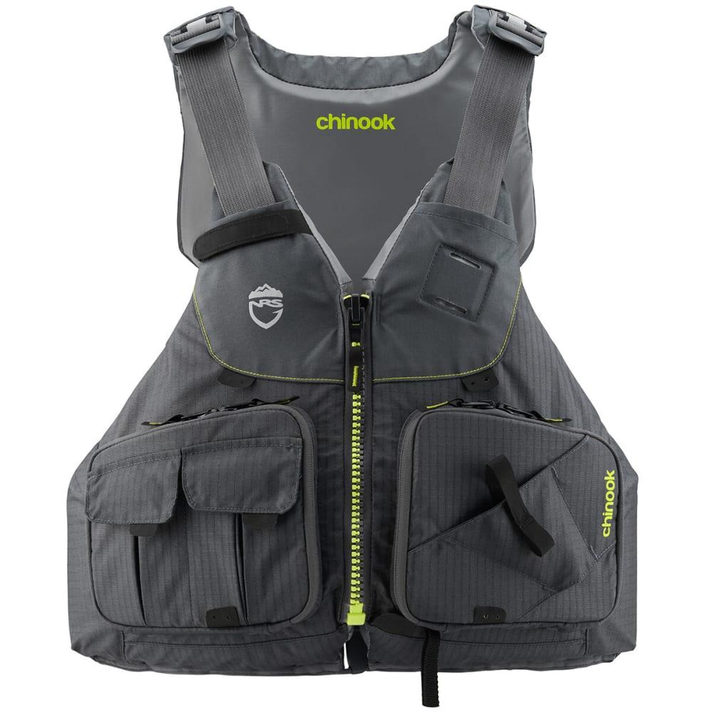 NRS Chinook Fishing PFD Life Jacket - CHARCOAL