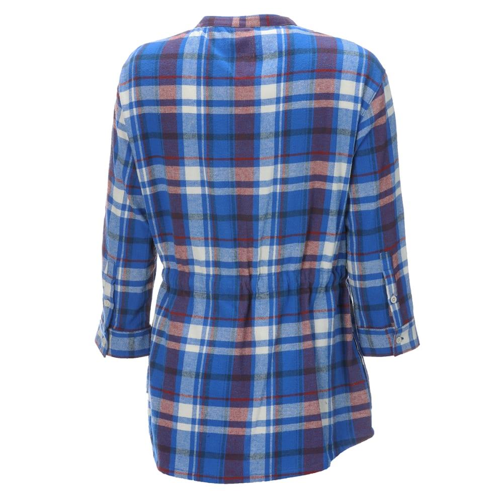 EMS Women's Timber Flannel Tunic - TURKISH SEA PLAID