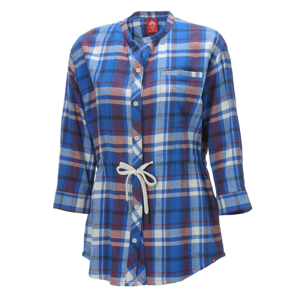 EMS Women's Timber Flannel Tunic - TURKISH SEA PLAID