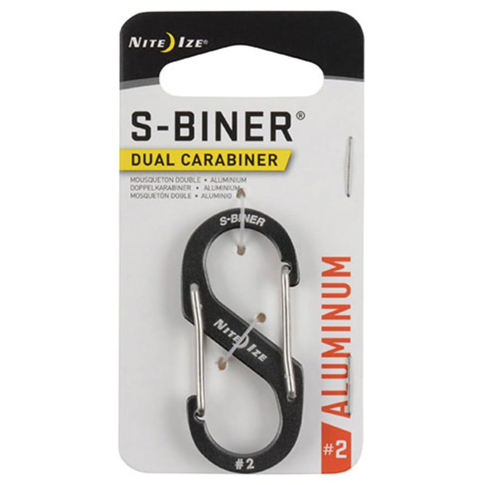 NITE IZE S-Biner Size 2 Aluminum Dual Carabiner - CHARCOAL