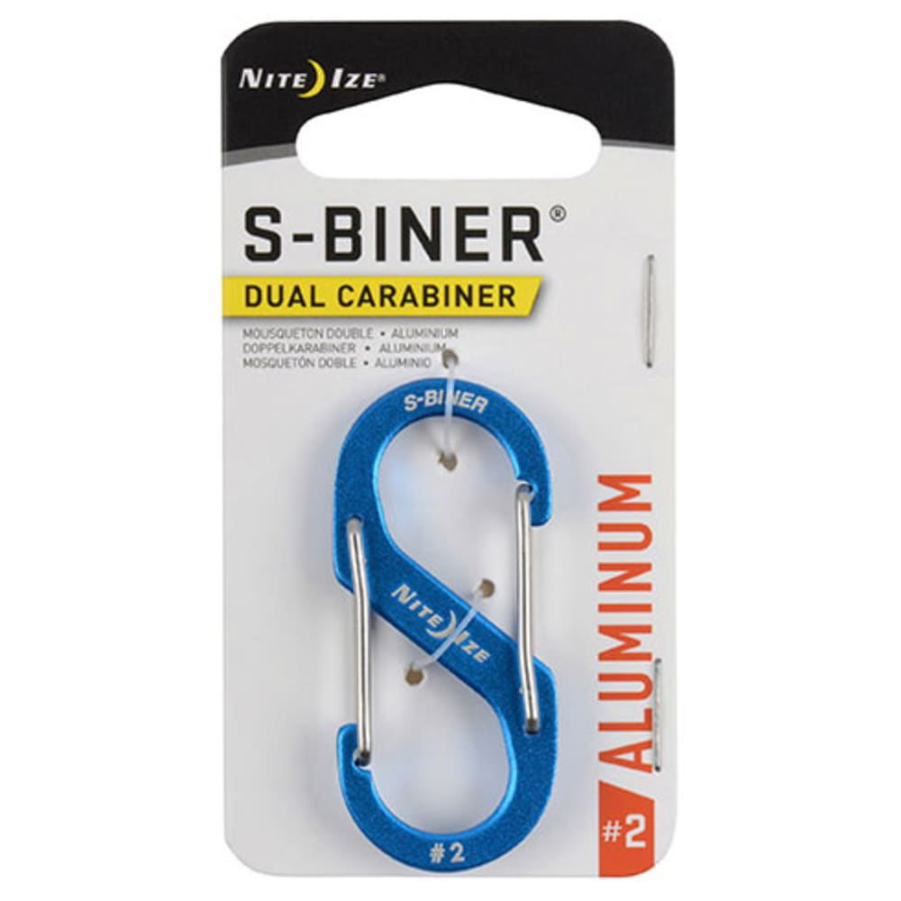 NITE IZE S-Biner Size 2 Aluminum Dual Carabiner - BLUE