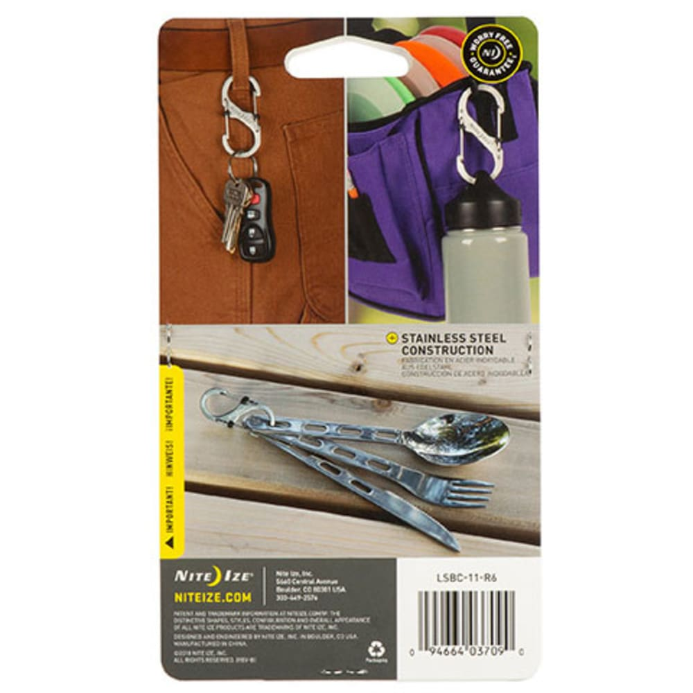 NITE IZE S-Biner Slidelock Stainless Steel, Combo 3-Pack - STAINLESS