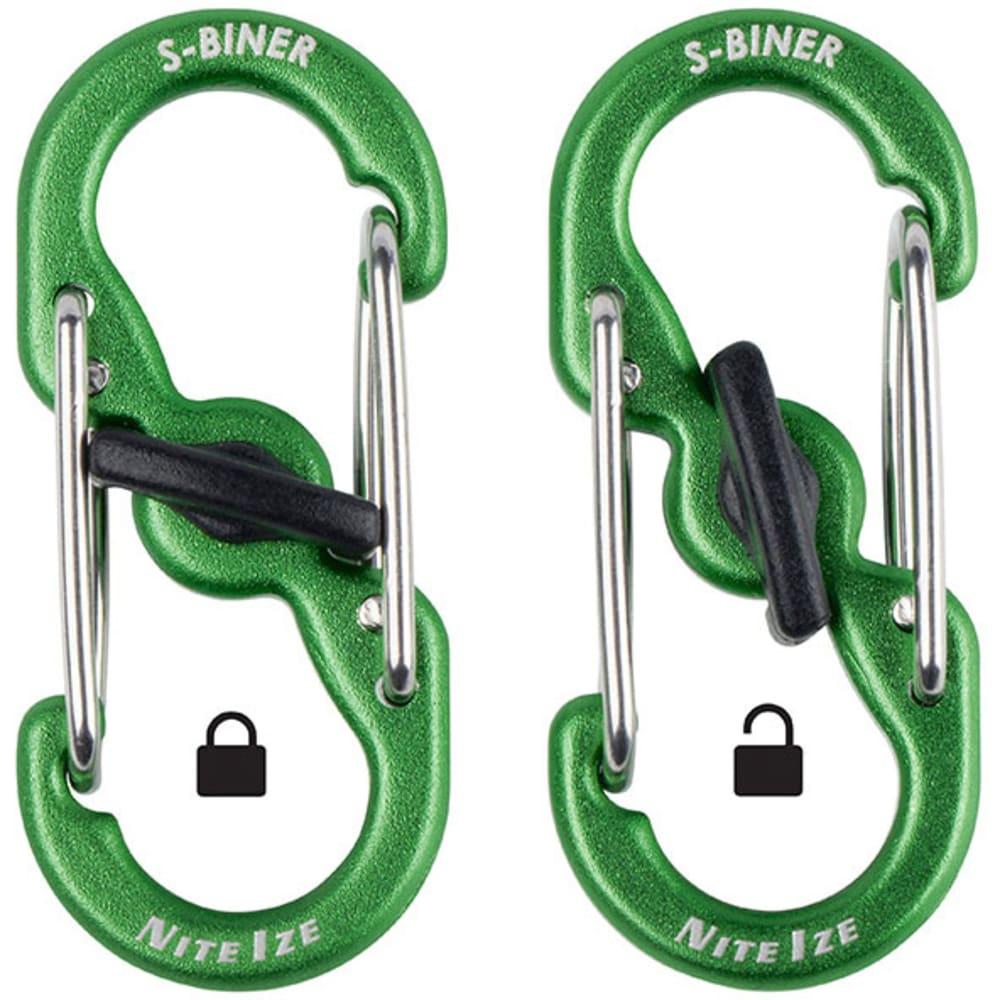 NITE IZE S-Biner Microlock Aluminum, 5-Pack - STAINLESS