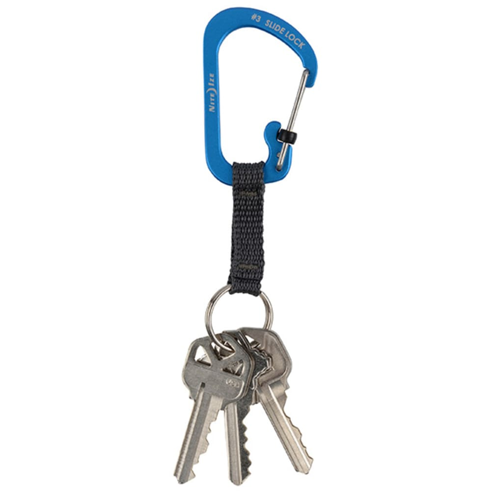 NITE IZE  Aluminum SlideLock Key Ring - BLUE