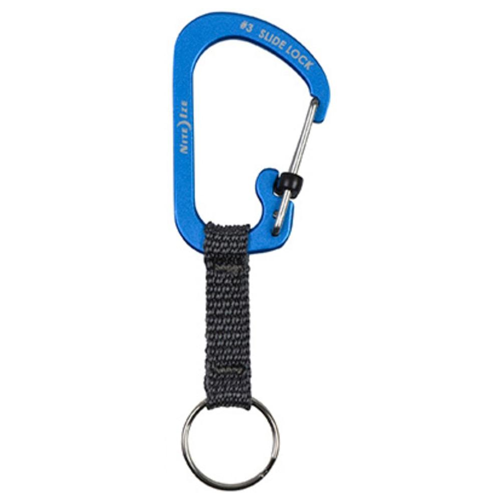 NITE IZE  Aluminum SlideLock Key Ring - BLUE