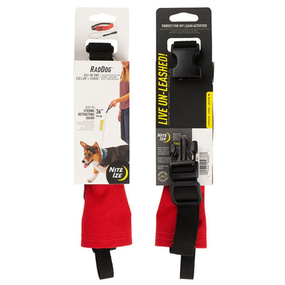 NITE IZE RadDog All-in-One Collar and Leash - RED