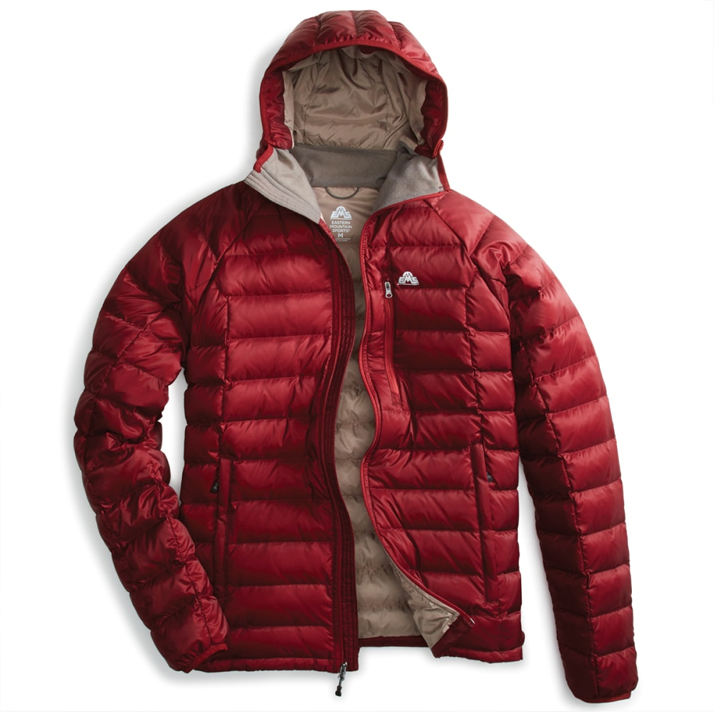 EMS Men's Feather Pack Hooded Jacket - POMEGRANATE