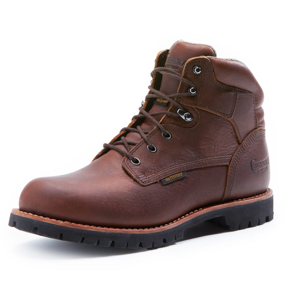 CHIPPEWA Men's 75302 Waterproof 400 GRM Boots, Wide - BROWN