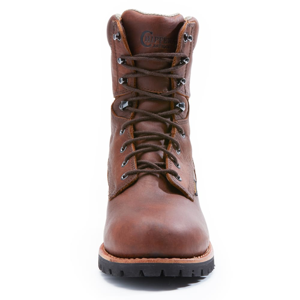 CHIPPEWA Men's 75323 Logger St. Insulated Waterproof 400 GRM Boots, Wide - DARK BROWN