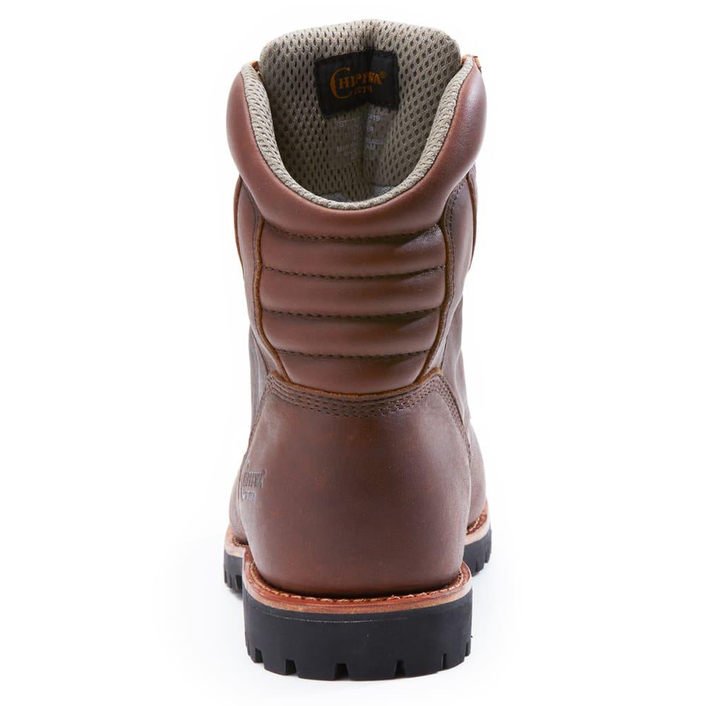 CHIPPEWA Men's 8 Inch 75312 Waterproof 400 GRM Work Boots - BROWN