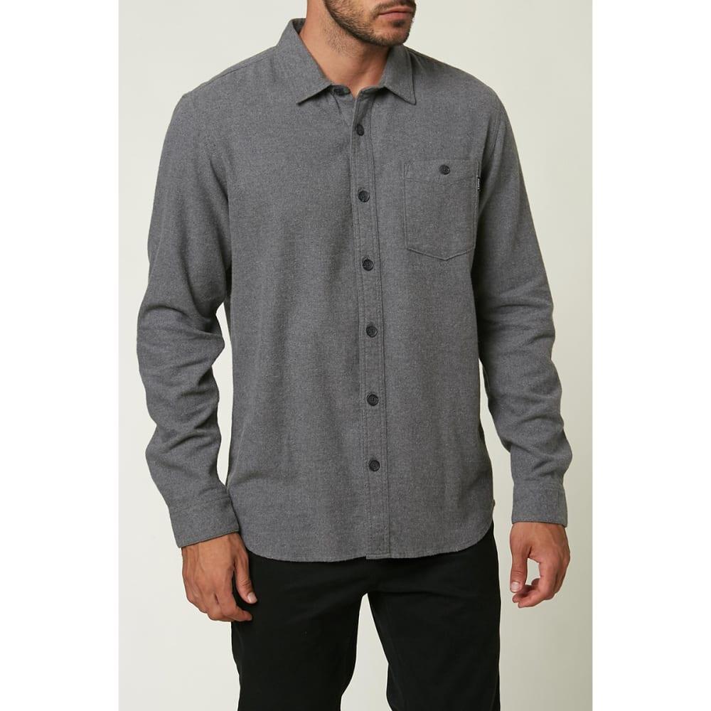 O'NEILL Men's Redmond Solid Flannel Shirt - CHARCOAL CHH