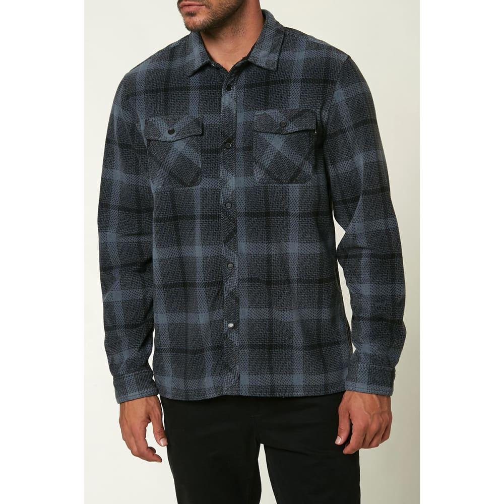 O'NEILL Men's Glacier Peak Long-Sleeve Flannel Shirt - SLATE BLUE SLT