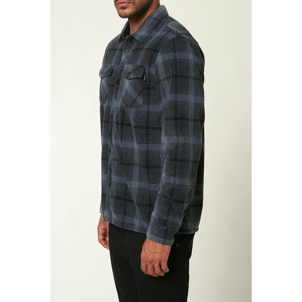 O'NEILL Men's Glacier Peak Long-Sleeve Flannel Shirt - SLATE BLUE SLT