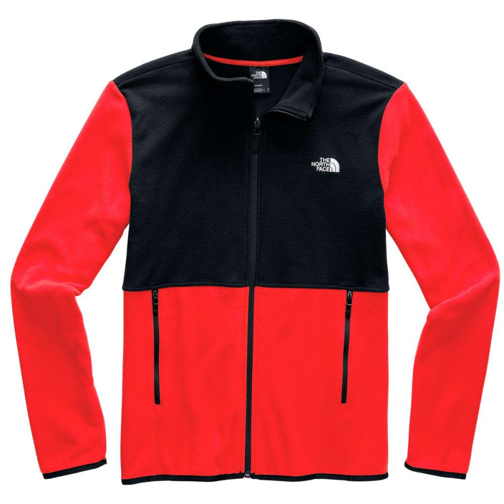 THE NORTH FACE Men's TKA Glacier Full-Zip Jacket - FIERY RED TNFBLK WU5