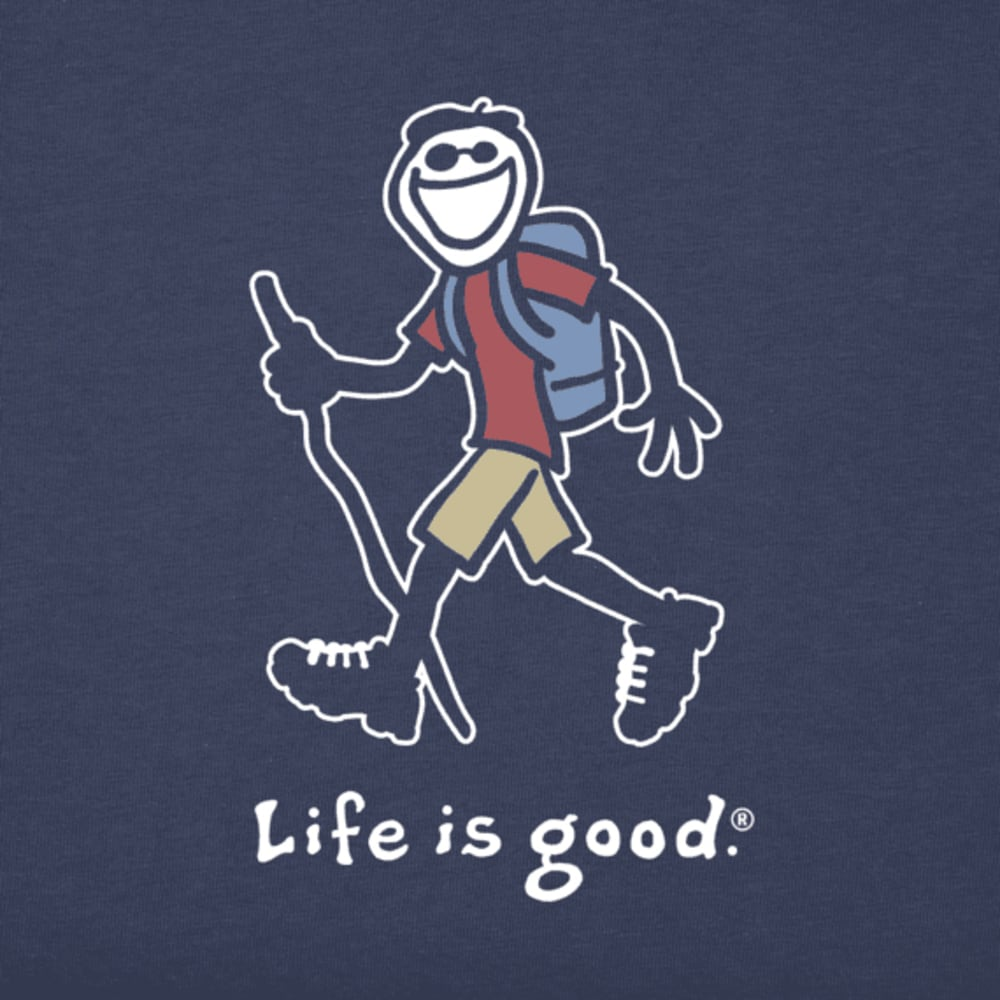 LIFE IS GOOD Men's Hiking Jake Vintage Crusher Tee - DUSTY BLUE