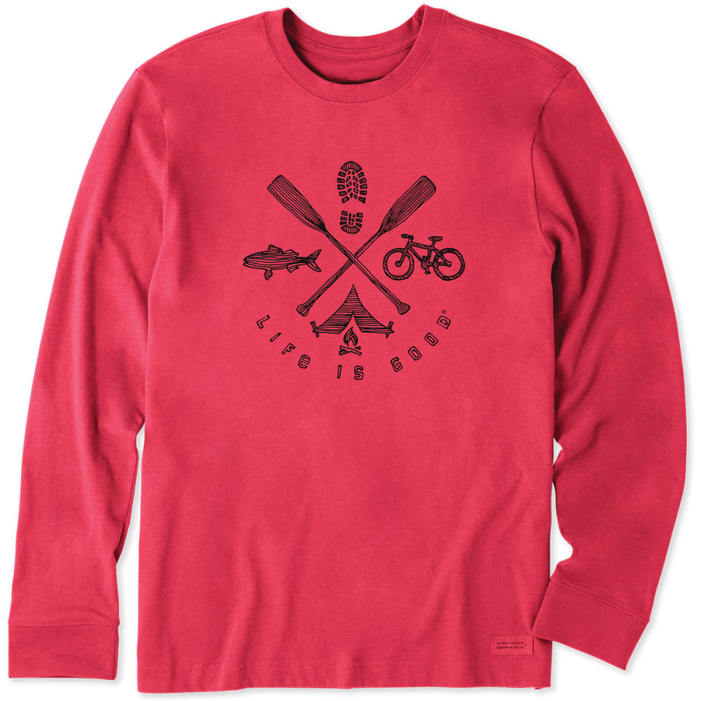 LIFE IS GOOD Men's Outdoor Elements Long-Sleeve Crusher Tee - H AMR RD