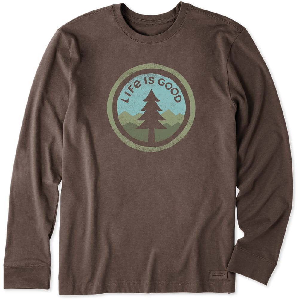 LIFE IS GOOD Men's Long-Sleeve Tree Coin Crusher Tee - HtRcBr