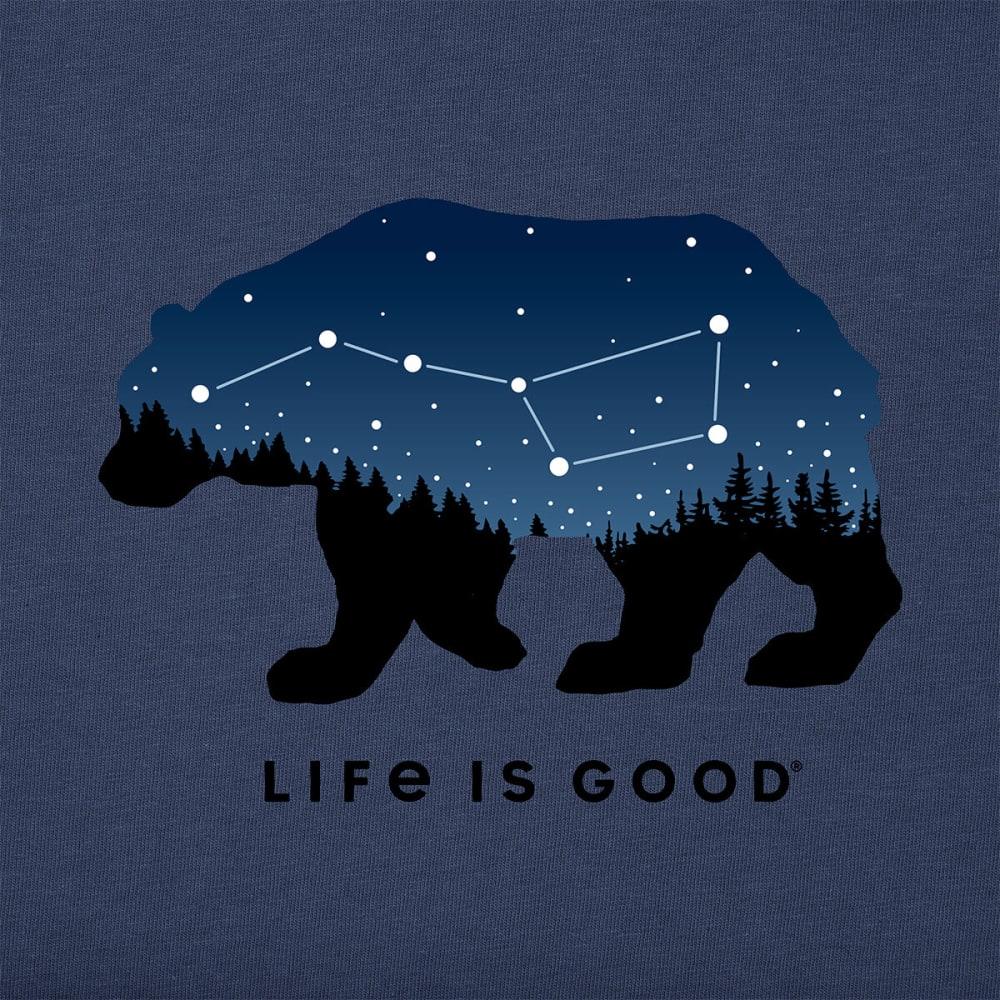 LIFE IS GOOD Men's Short-Sleeve Ursa Major Bear Crusher Tee - DUSTY BLUE