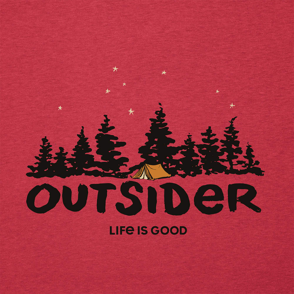 LIFE IS GOOD Men's Short-Sleeve Outsider Cool Tee - AM/RED