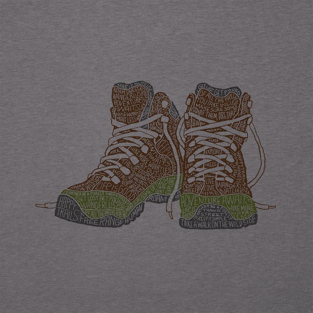 LIFE IS GOOD Men's Wandering Word Boots Long-Sleeve Graphic Tee - SLA GRY