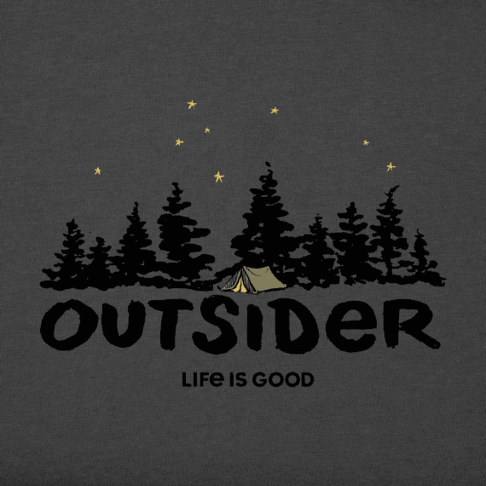 LIFE IS GOOD Women's Outside Long-Sleeve Crusher Tee - NGTBLACK