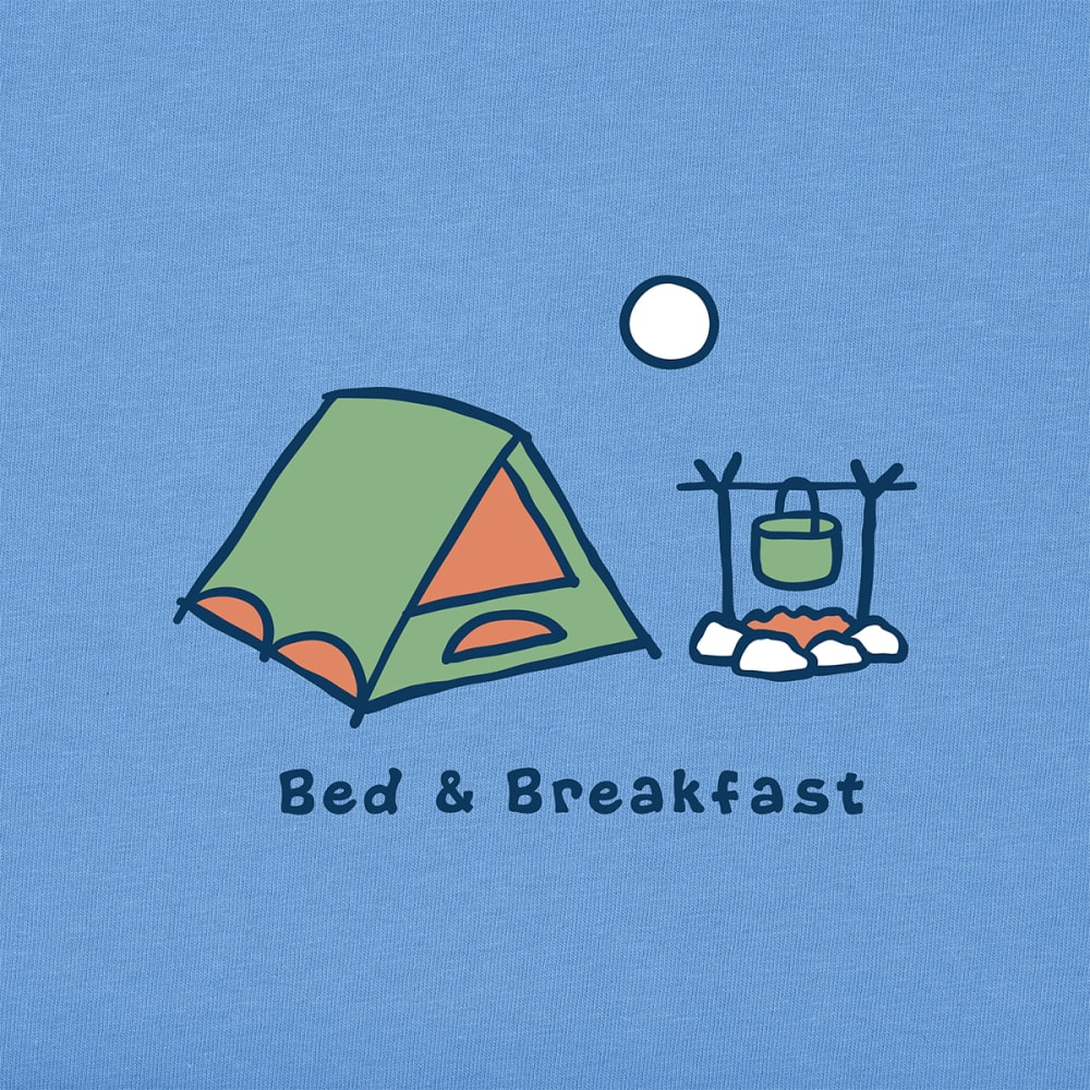 LIFE IS GOOD Women's Vintage Bed and Breakfast Crusher Tee - POWDER  BLUE